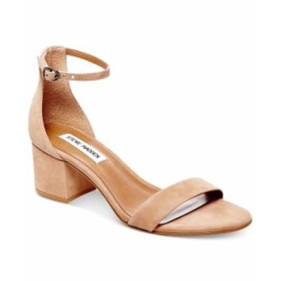 スティーブ マデン レディース パンプス シューズ Women's Irenee Two-Piece Block-Heel Sandals Tan Nubuck