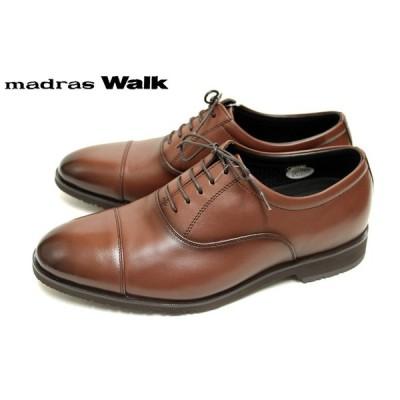 madras Walk MW8000 防水 ゴアテックス GORE-TEX 本革 ストレートチップ 4E 幅広 レースアップ  ブラウン