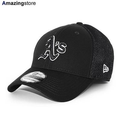 ニューエラ 39THIRTY オークランド アスレチックス 【MLB NEO FLEX FIT CAP/BLACK-WHITE】 NEW ERA OAKLAND ATHLETICS