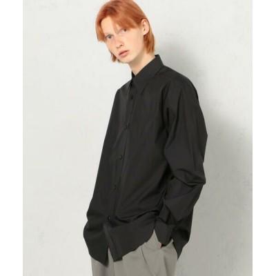 TOMORROWLAND/トゥモローランド 200/2 POPLIN コットン レギュラーカラーシャツ 19 ブラック S