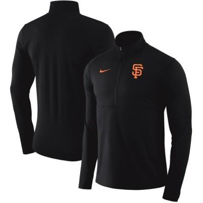サンフランシスコ・ジャイアンツ Nike Dry Element Half-Zip Performance Pullover - Black