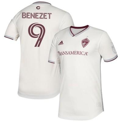 """アディダス メンズ ジャージ Nicolas Benezet """"Colorado Rapids"""" adidas 2020 Secondary Authentic Jersey - White"""