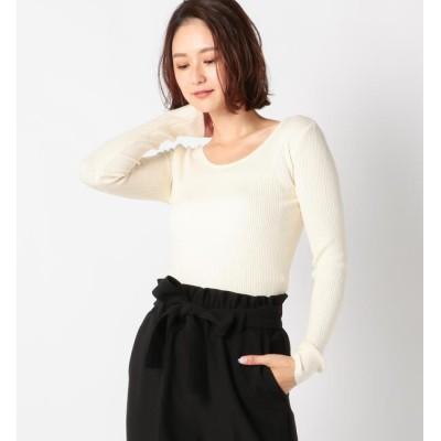 【ミューズ リファインド クローズ/MEW'S REFINED CLOTHES】 Uネックリブ長袖ニット