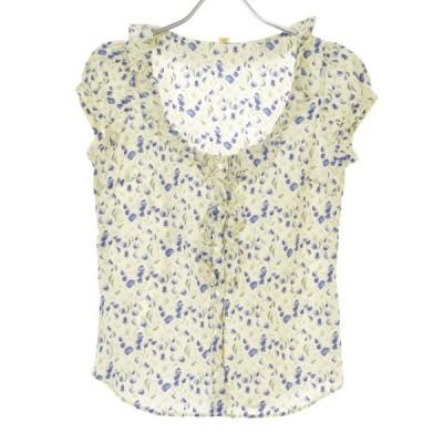 heliopole / エリオポール 花柄 フレンチスリーブシャツ