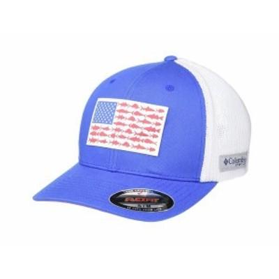 コロンビア メンズ 帽子 アクセサリー PFG Mesh??¢ Fish Flag Ball Cap Vivid Blue/Whit