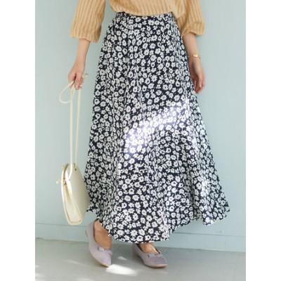 【WEB限定】花柄マーメイドスカート