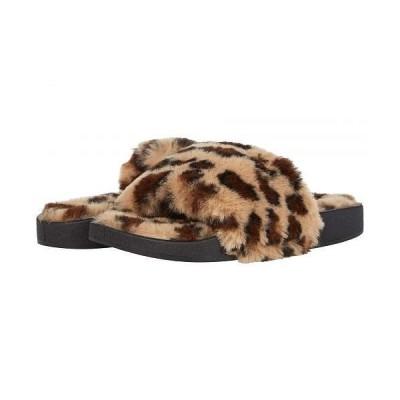 Madden Girl マッデンガール レディース 女性用 シューズ 靴 スリッパ Fuzzyy - Leopard