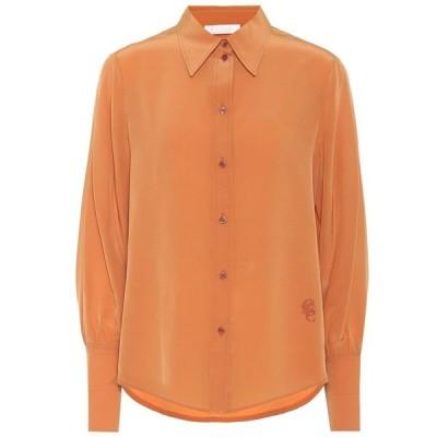 クロエ Chloe レディース ブラウス・シャツ トップス silk shirt Sunburn Brown