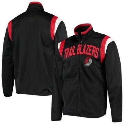 ユニセックス スポーツリーグ バスケットボール Portland Trail Blazers G-III Sports by Carl Banks Post Up Tricot Full-Zip Track Jac