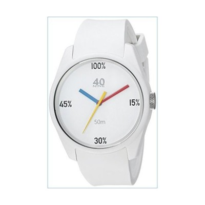 40N4.6W 40Nine Eclectic Collection 43mm 100% Watch in White並行輸入品