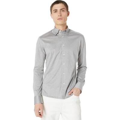 イートン Eton メンズ シャツ トップス Casual Fit Jersey Long Sleeve Grey