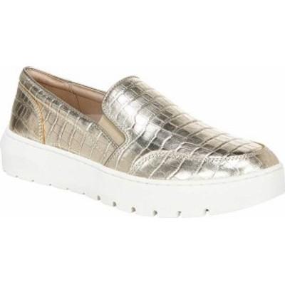 バイオニック レディース スニーカー シューズ Women's Vionic Dinora Slip On Sneaker Gold Croc Metallic/Leather
