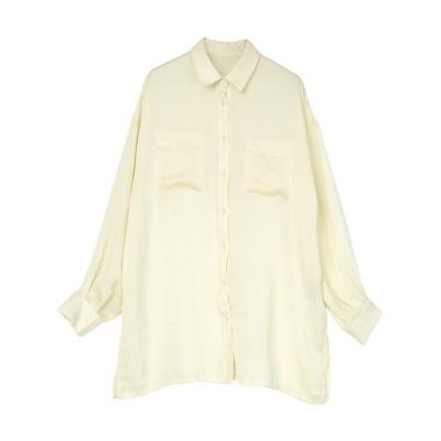 【ユアーズ】 ヴィンテージサテンシャツ レディース ホワイト M ur's