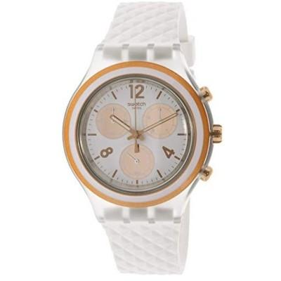 スウォッチ Swatch Women's Elerose SVCK1006 Clear Silicone Swiss Quartz Fashion Watch 並行輸入品