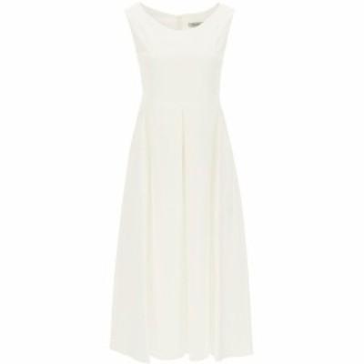 MAX MARA/マックス マーラ White s max mara cotton midi dress レディース 春夏2021 PISA ik