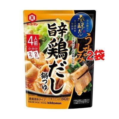 キッコーマン 発酵だし 旨辛鶏だし鍋つゆ ( 340g*2袋セット )/ キッコーマン