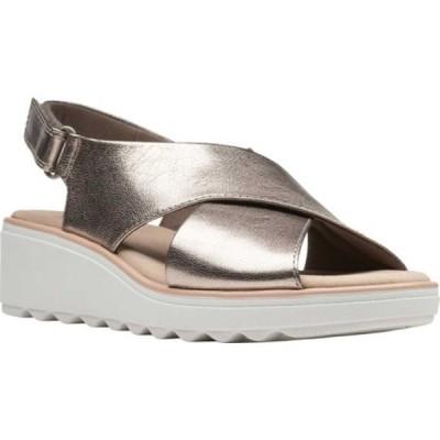 クラークス サンダル シューズ レディース Jillian Jewel Slingback Sandal (Women's) Gunmetal Metallic Leather