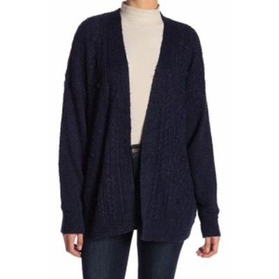 Union ユニオン ファッション トップス 14th & Union NEW Blue Soft Fleece Womens Size XS Cardigan Sweater