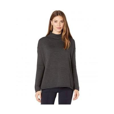 Eileen Fisher アイリーンフィッシャー レディース 女性用 ファッション セーター Funnel Neck Box Top - Charcoal