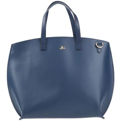 J&C JACKYCELINE ハンドバッグ ダークブルー 革 ハンドバッグ