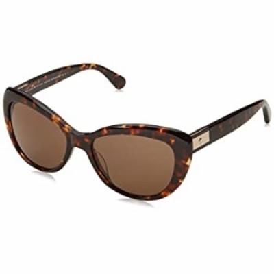 Kate Spade New York Women's Emmalynn Polarized Cat-Eye Sunglasses, DKHAVANA, 54 mm