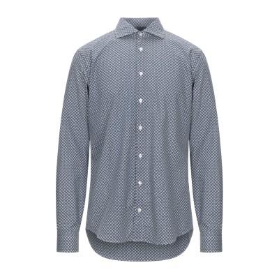 STEFANO VALLE シャツ ダークブルー 37 コットン 100% シャツ