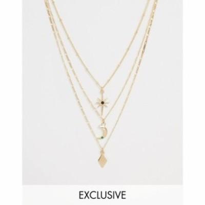 リクレイム ヴィンテージ Reclaimed Vintage レディース ネックレス ジュエリー・アクセサリー Inspired Multirow Necklace With Stars a