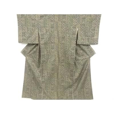 宗sou 花更紗模様手織り紬着物【リサイクル】【着】