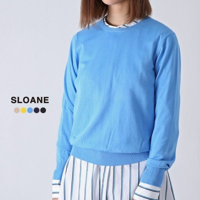 **再入荷【21SSコレクション】SLOANE〔スローン〕SL2S-00114Gコットン天竺クルーネックニットプルオーバー