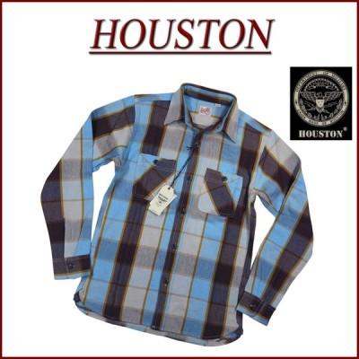 HOUSTON ヒューストン マチ付 長袖 ビエラ チェック ヘビーネルシャツ 40624