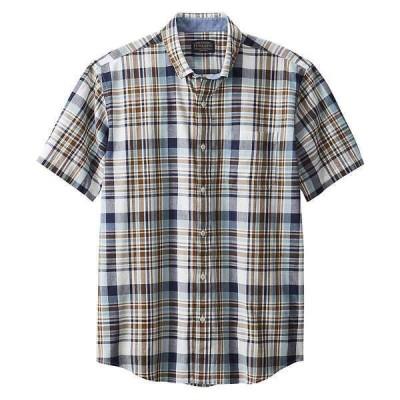ペンドルトン シャツ メンズ トップス Pendleton Men's Madras SS Shirt Blue/brown Plaid