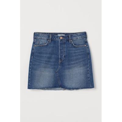 H&M - デニムショートスカート - ブルー