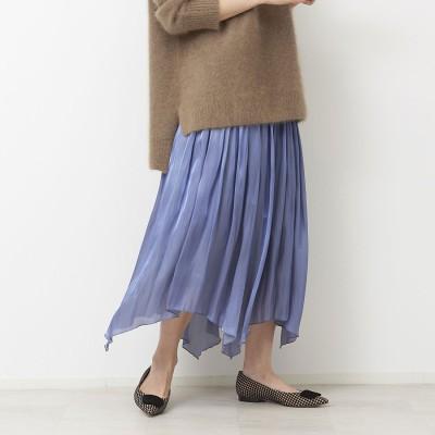 ルージュヴィフ ラクレ Rouge vif la cle 《新色》サテンギャザーイレギュラーヘムスカート (バイオレット)