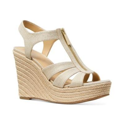 マイケルコース サンダル シューズ レディース Women's Berkley Espadrille Wedge Sandals Pale Gold