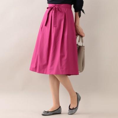 【ウォッシャブル】ハイウエストリボンタック スカート