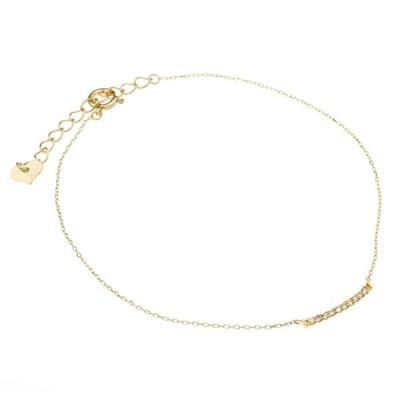 nadi K18 ダイヤモンド 0.05ct 18金 イエロー ゴールド チェーン ブレスレット
