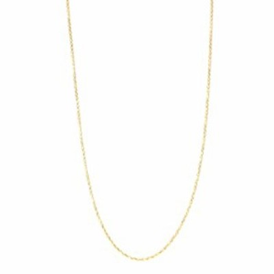 """18k Gold-Flashed Sterling Silver 1.3mm Fine Cable Nickel Free Chain Necklace Italy, 18"""""""