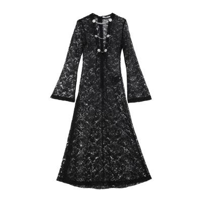 アレッサンドラ・リッチ ALESSANDRA RICH ロングワンピース&ドレス ブラック 40 ナイロン 81% / レーヨン 19% ロングワン