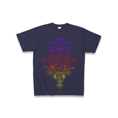 エヴァ セフィロト 生命の樹 Tシャツ Pure Color Print(メトロブルー)