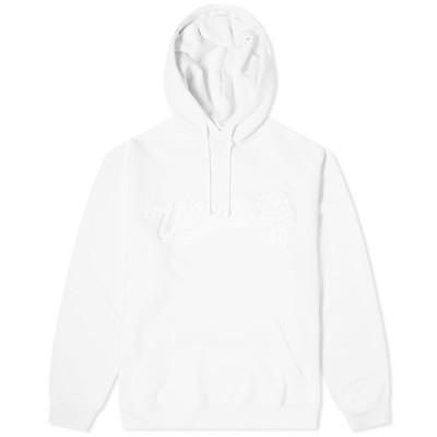ヴェトモン VETEMENTS メンズ パーカー トップス baseball logo oversized hoody White