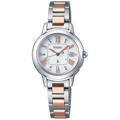 セイコー ルキア SSQW037 レディース 腕時計 ピンクゴールド コンフォテックス チタン SEIKO ソーラー電波時計 新品