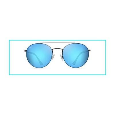 Maui Jim Sunglasses | Pele'S Hair B814-02S | Satin Dark Gunmetal Aviator Frame,  Frame, Polarized Blue Hawaii Lenses, with Patented PolarizedPlus2 Len