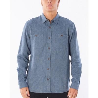リップカール シャツ トップス メンズ Men's East Cape Flannel Shirt Blue