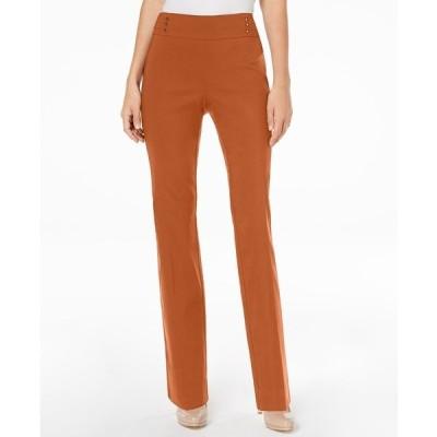 ジェイエムコレクション カジュアルパンツ ボトムス レディース Studded Pull-On Tummy Control Pants, Regular and Short Lengths, Created for Macy's Rust