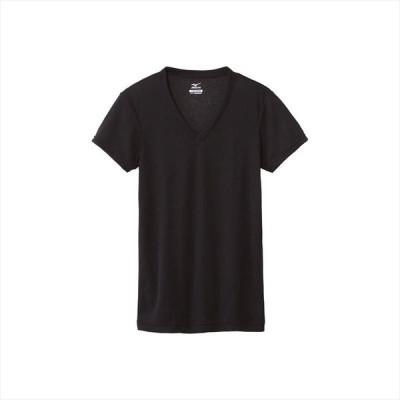 MIZUNO ミズノ ドライベクターエブリVネック半袖シャツ 09:ブラック