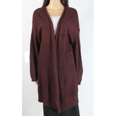 Red  ファッション トップス RDI Womens Solid Red Size 2X Plus Open Front Knit Cardigan Sweater