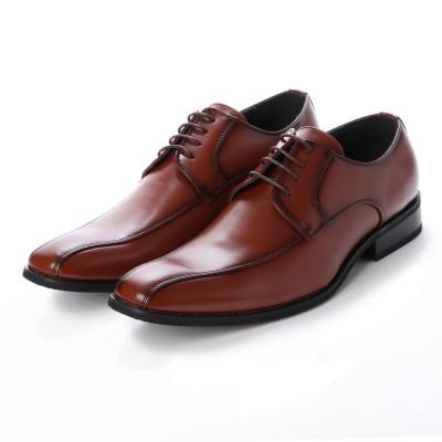 トウキョウブラザー TOKYO BROTHER メンズ ビジネスシューズ 紳士靴 ドレスシューズ クッション性 防滑 (ブラウン)