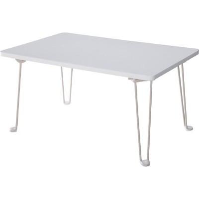 鏡面折りたたみテーブル ホワイト  PUT-6040 WH (ギフト対応不可)