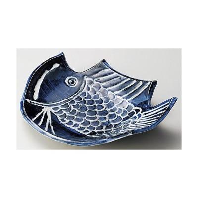 魚大皿 [ 38 x 29 x 7.9cm ] 【 変形大皿 】 【 料亭 旅館 和食器 飲食店 業務用 】