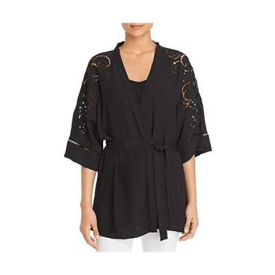 Kobi Halperin Womens Britney Kimono Eyelet Jacket Black XS/S並行輸入品 送料無料